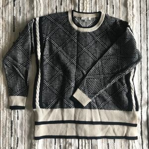 Madewell black and white knit sweater